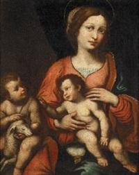 madonna con il bimbo e san giovannino by bernardino luini