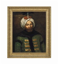 a large portrait of sultan mustafa ii by anonymous-ottoman (19)