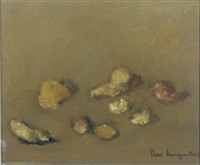 a still life with stones and shells by theo swagemakers