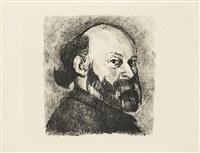 portrait de cézanne. pl. pour l'album cézanne, bernheim jeune éditeurs, paris by edouard vuillard