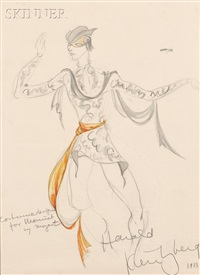 costume design for menuet by mozart by harold kreutzberg