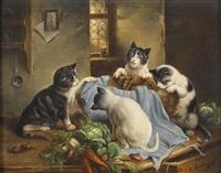 neugierige kätzchen by carl reichert
