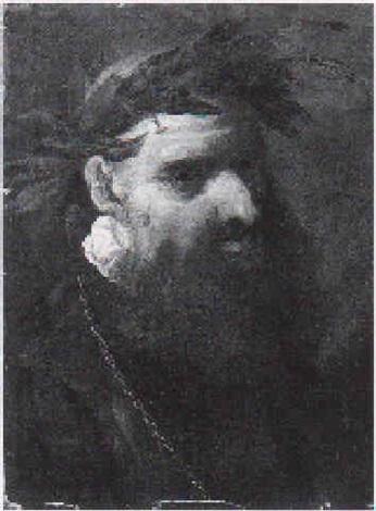 Ritratto Di Poeta A Mezzo Busto Con Corona Dalloro By Pietro Della