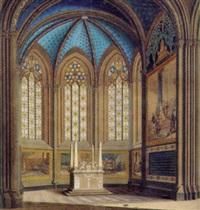 glasfönstermålning i gustavianska gravkoret i uppsala domkyrka by johan wilhelm carl way
