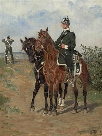 prussian cavalryman by karl frederik christian hansen reistrup