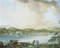 ansicht von luganer und luganersee by raffaello albertolli
