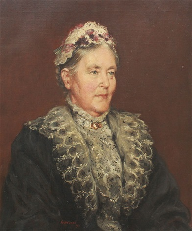 portrait of an elderly woman by frank moss bennett