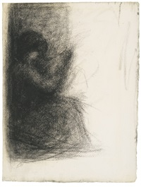 femme assise bas by georges seurat