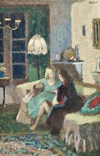 conversation in an interior by charles mccall