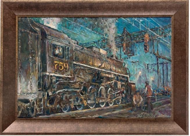 the old steam train by anatoliy demenko