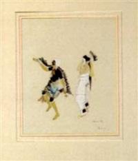two pueblo dancers by tonita pena