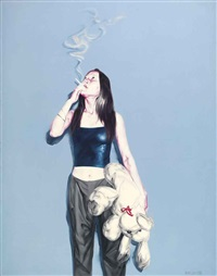 girl. toy. smoking by he sen