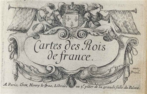 cartes des rois de france set of 40 works jeu de reynommées set of 53 works géographie set of 53 works by stefano della bella
