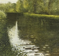 river dove, just after the bentley brook has joined it by kurt jackson rwa