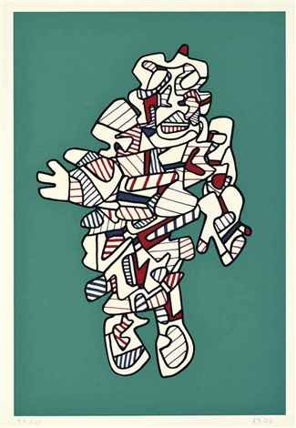 protestator from presences fugaces by jean dubuffet
