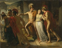 castor and pollux rescuing helen by jean bruno gassies