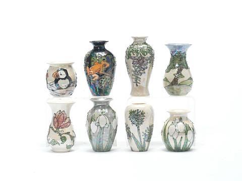 Magnolia Vase Snowdrops Vase 2 Pieces By Lise B Moorcroft On Artnet
