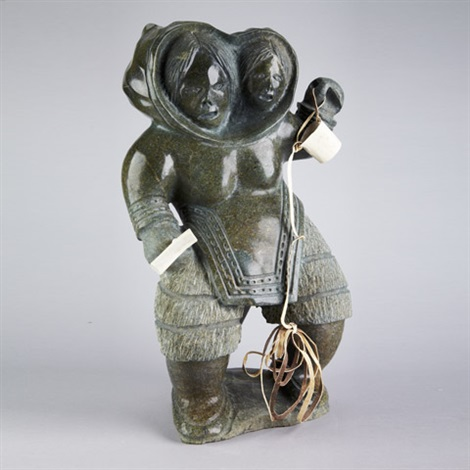 mother and child with tools by jaco ishulutaq