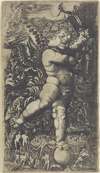 zorniger amor, auf einer kugel stehend by hans leinberger