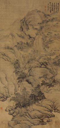 万壑松冈 landscape by fa ruozhen