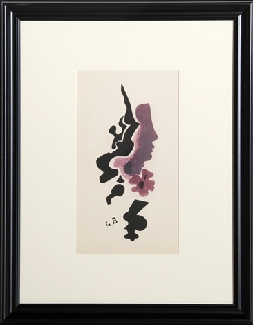 profil (from the portfolio espace) by georges braque