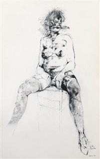 figura seduta by renzo vespignani