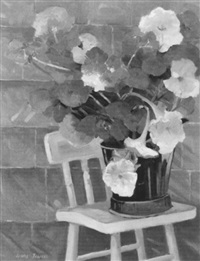 still life with petunias by ruth jewell