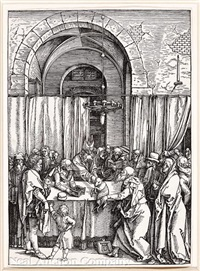 the rejection of joachim's offering by the high priest by albrecht dürer