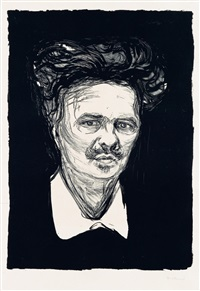august strindberg by edvard munch
