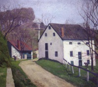 roadside mill buildings (the mill at bryn athyn, pa?) by elizabeth fisher washington
