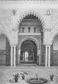 courtyard, sevilla by josé arias