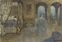 an apparition in blue by warwick goble