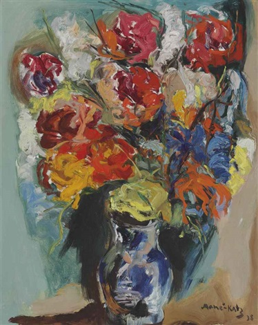 flowers in a vase by mané katz