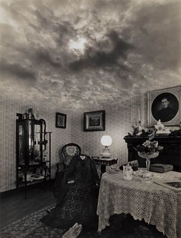 untitled parlor and sky by jerry uelsmann
