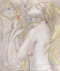 nuda con fiori by gemma vercelli