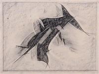 abreibung von einer komposition aus glasscherben by hermann glöckner