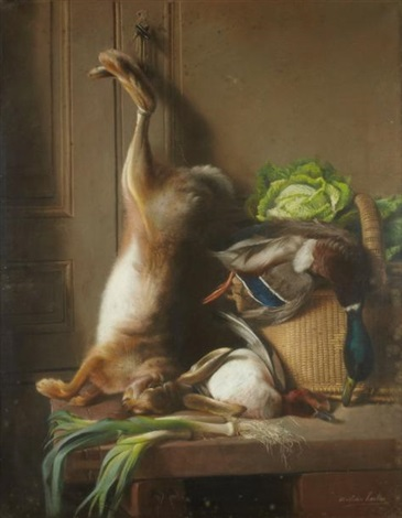 nature morte au lapin by mathilde herbin