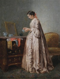 lady in her dressing room by paul seignac