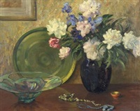 still life with flowers by john howard allen