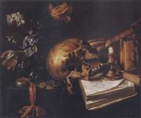 vanitas still life by simon renard de saint-andre
