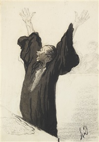 l'avocat pathétique by honoré daumier