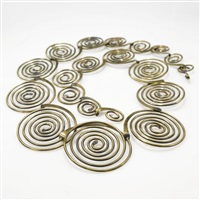 necklace (model diminishing spirals) by art smith