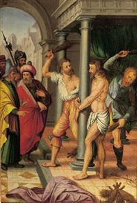 the flagellation by jan (joannes sinapius) mostaert