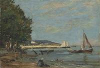rivage près d'honfleur by eugène boudin