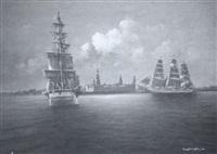 sailing ships under way by tony fachet