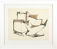 untitled, geometric abstrction by dorothy dehner