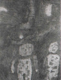 composition avec personnage by maurice lansberg