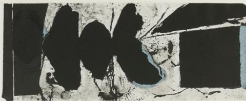 elegy black black by robert motherwell
