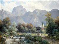 partie bei berchtesgaden, partie aus bairischzell mit dem wendelstein (pair) by ludwig sckell