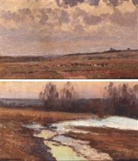 landscape by vasili (vladimir) vasilievich perepletchikov